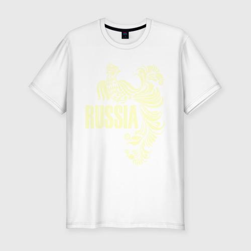 Мужская футболка премиум Россия (свет)