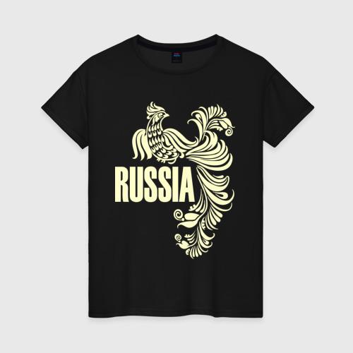 Женская футболка хлопок Россия (свет)