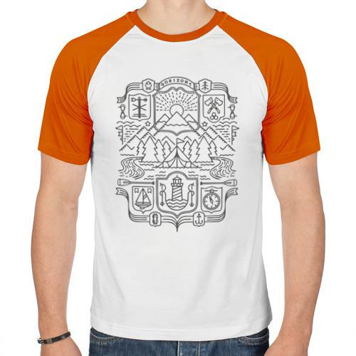 Мужская футболка реглан  Фото 01, Horizont