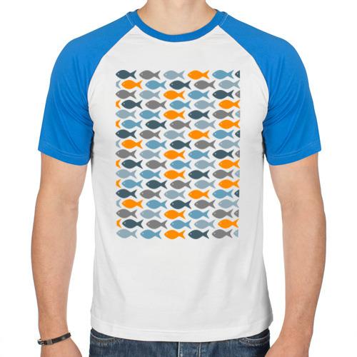 Мужская футболка реглан  Фото 01, Рыбки