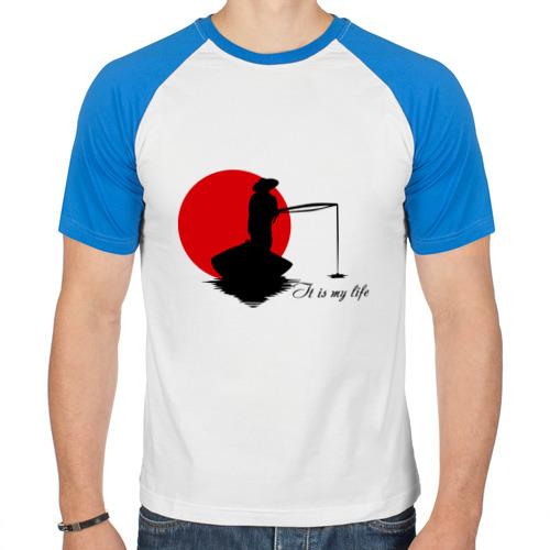Мужская футболка реглан  Фото 01, Японская ночная рыбалка