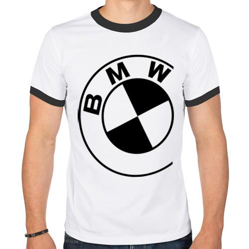 Мужская футболка рингер Бмв значок