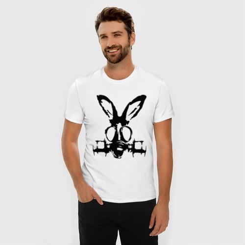Мужская футболка премиум  Фото 03, Заяц в противогазе