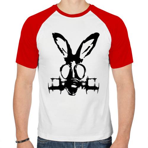 Мужская футболка реглан  Фото 01, Заяц в противогазе