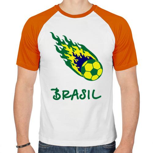 Мужская футболка реглан  Фото 01, Brasil 2014