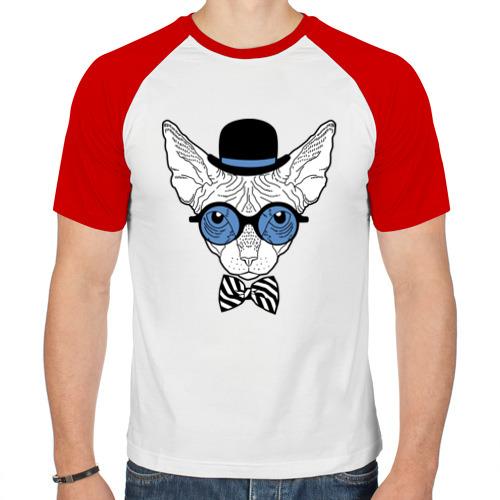 Мужская футболка реглан  Фото 01, Сфинкс в цилиндре