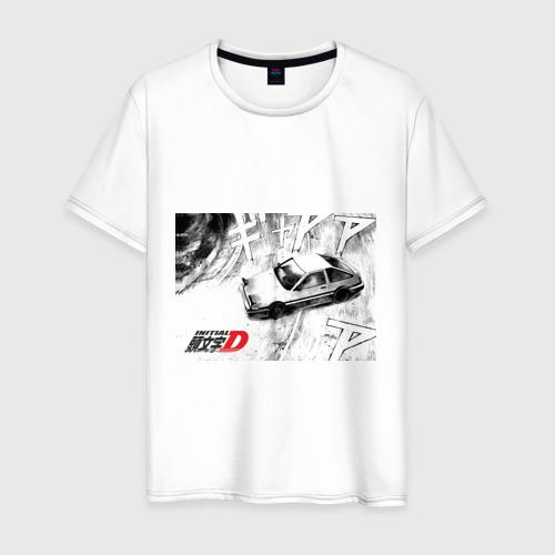Мужская футболка хлопок Initial D