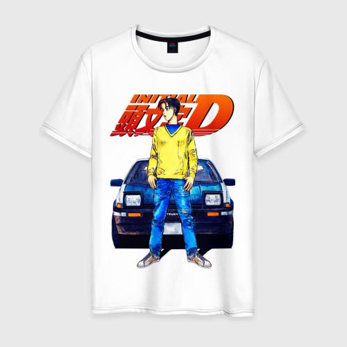 Мужская футболка хлопок Такуми & АЕ86