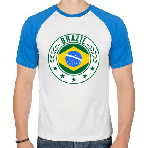 Мужская футболка реглан  Фото 01, Brazil - Бразилия ЧМ-2014