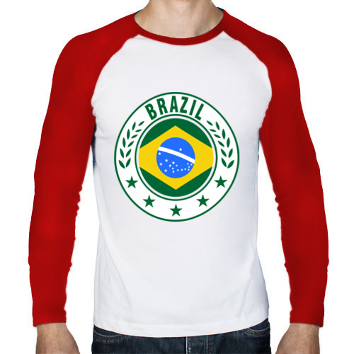 Мужской лонгслив реглан  Фото 01, Brazil - Бразилия ЧМ-2014