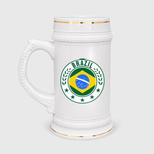 Кружка пивная Brazil - Бразилия ЧМ-2014 Фото 01