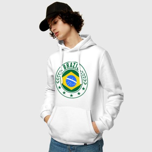 Мужская толстовка хлопок  Фото 03, Brazil - Бразилия ЧМ-2014