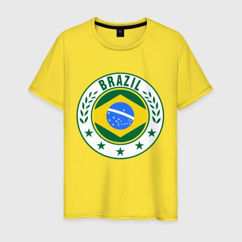 Мужская футболка хлопок Brazil - Бразилия ЧМ-2014 Фото 01