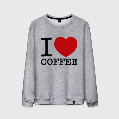 Мужской свитшот хлопок  Фото 01, I love coffee