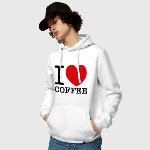 Мужская толстовка хлопок  Фото 03, I love coffee