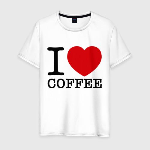 Мужская футболка хлопок I love coffee Фото 01