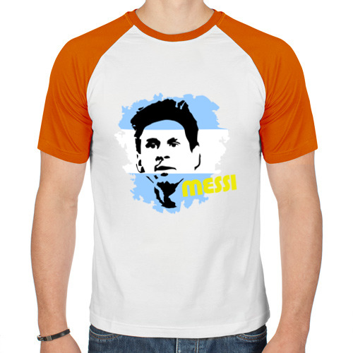 Мужская футболка реглан  Фото 01, Месси (Messi)