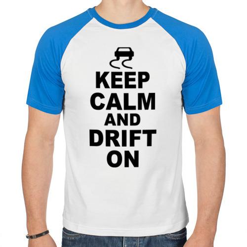 Мужская футболка реглан  Фото 01, Keep calm and drift on