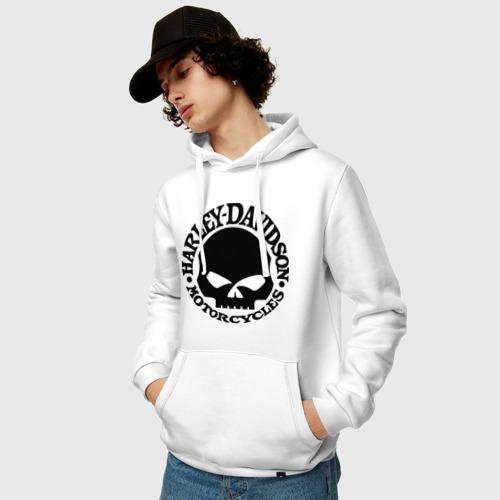 Мужская толстовка хлопок  Фото 03, Harley Davidson (skull logo)