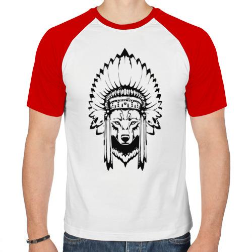 Мужская футболка реглан  Фото 01, Лис-индеец