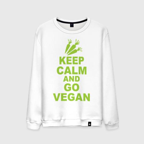 Мужской свитшот хлопок  Фото 01, Keep calm and go vegan