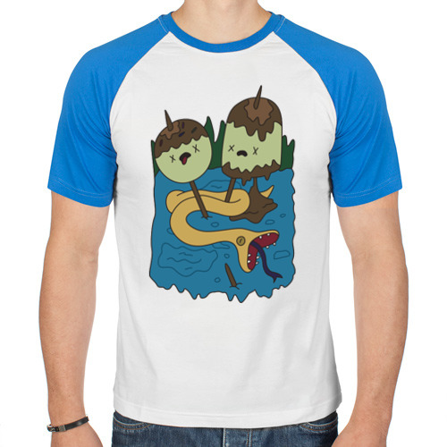 Мужская футболка реглан  Фото 01, Время приключений подарок Марси