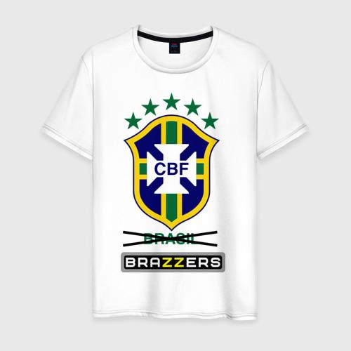 Мужская футболка хлопок Сборная Бразилии по футболу