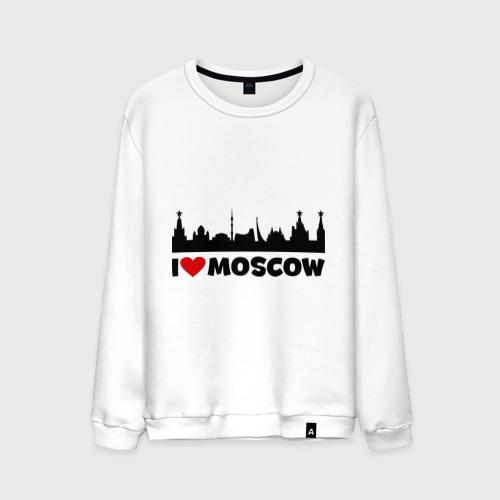 Мужской свитшот хлопок  Фото 01, Я люблю тебя, Москва