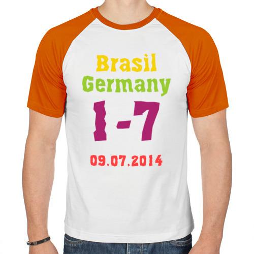 Мужская футболка реглан  Фото 01, Бразилия - Германия