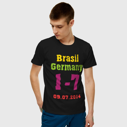 Мужская футболка хлопок Бразилия - Германия Фото 01
