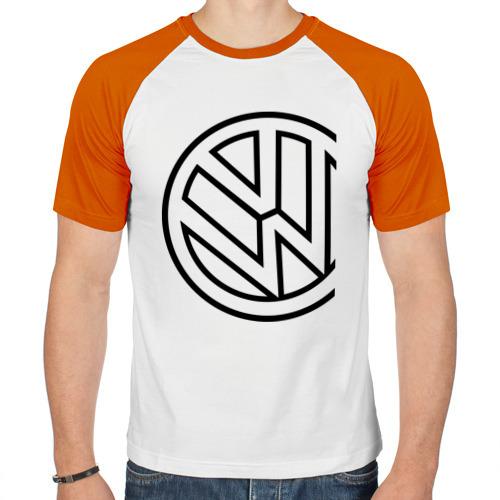Мужская футболка реглан  Фото 01, Фольксваген значок