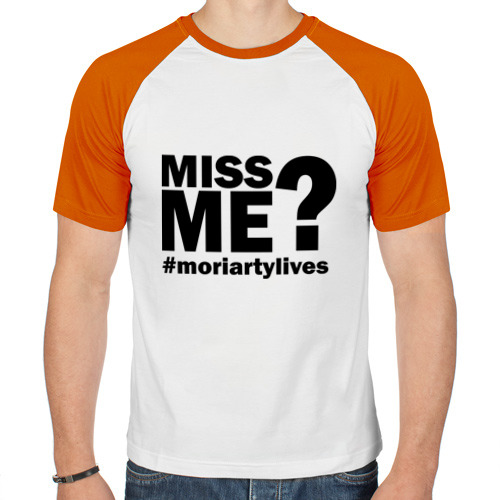 Мужская футболка реглан  Фото 01, Miss me? Moriarty