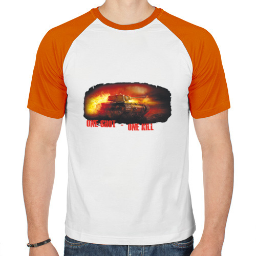 Мужская футболка реглан  Фото 01, One shot - one kill