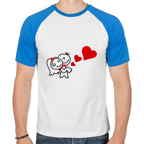 Мужская футболка реглан  Фото 01, Молодожены