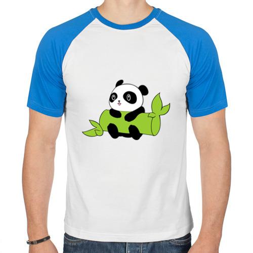 Мужская футболка реглан  Фото 01, Панда