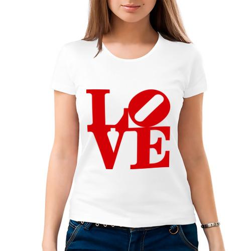Женская футболка хлопок  Фото 03, Love - памятник любви