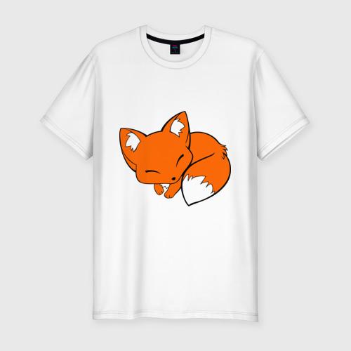 Мужская футболка премиум  Фото 01, Спящий лисёнок