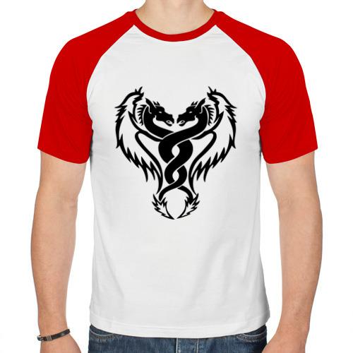 Мужская футболка реглан  Фото 01, Два дракона