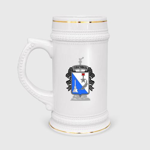 Кружка пивная  Фото 01, Герб Севастополя