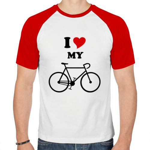 Мужская футболка реглан  Фото 01, Я люблю велосипед