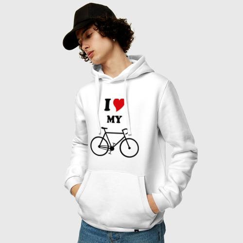 Мужская толстовка хлопок  Фото 03, Я люблю велосипед