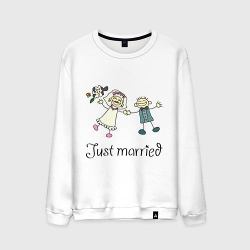 Мужской свитшот хлопок  Фото 01, Just Married
