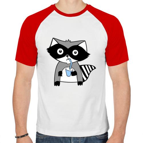 Мужская футболка реглан  Фото 01, Енот мальчик (парная)