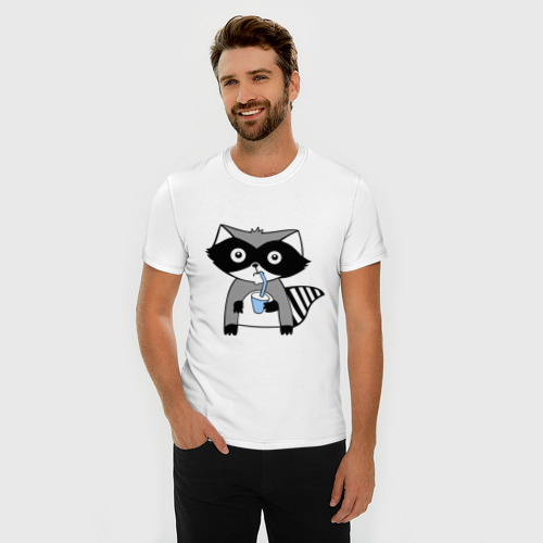 Мужская футболка хлопок Slim Енот мальчик (парная) Фото 01