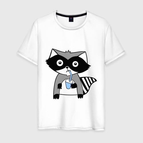 Мужская футболка хлопок Енот мальчик (парная)