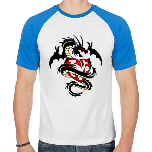 Мужская футболка реглан  Фото 01, Дракон покоряет сердце