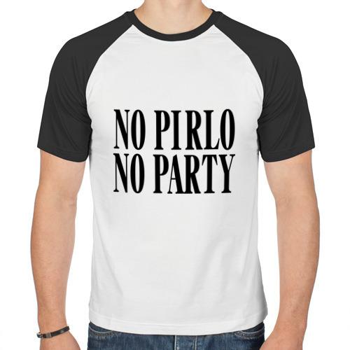 Мужская футболка реглан  Фото 01, No Pirlo,no party