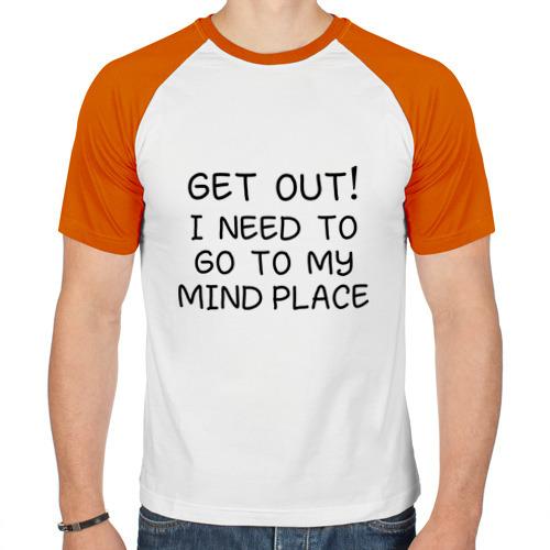 Мужская футболка реглан  Фото 01, Sherlock Holmes Get Out
