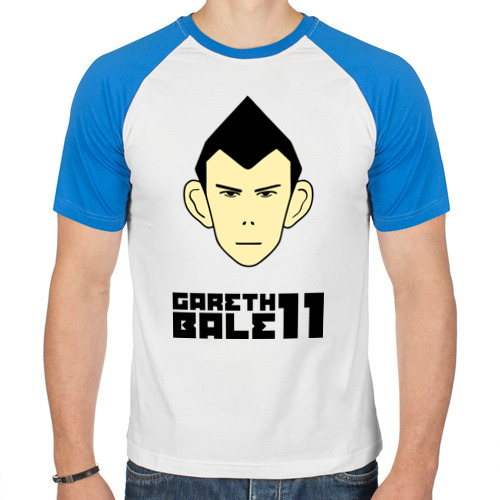 Мужская футболка реглан  Фото 01, Gareth Bale (карикатура)
