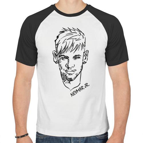 Мужская футболка реглан  Фото 01, Neymar Jr